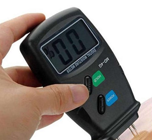 Digital 4 Steel Pin LCD Detector 5%-40% Wood Water Moisture Humidity Meter Garden Damp Testing Tools by ShopIdea (Exact To Countdown Christmas)