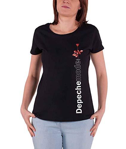 Depeche Mode T Shirt Violator Side Rose Official Womens Junior Fit Black Size L ()