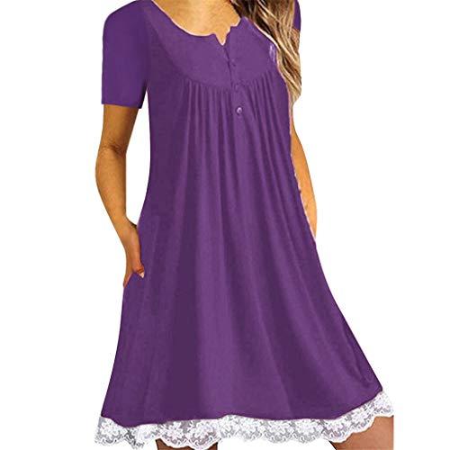 Haalife◕‿Women's Sleeveless Pockets High Low Pleated Casual Pleated Swing Beach Dress -