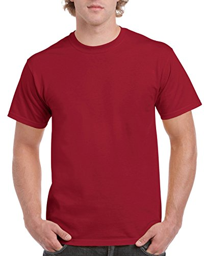 Gildan Men's Ultra Cotton Tee, Cardinal Red, ()