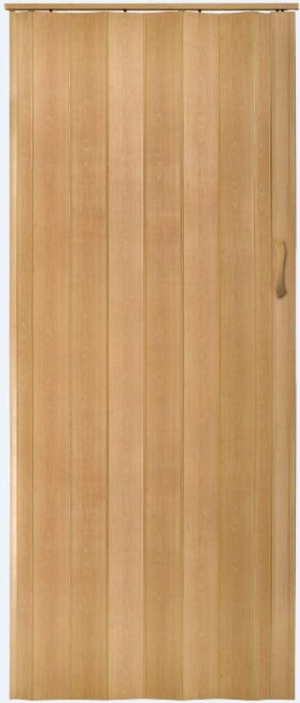 Faltt/ür Schiebet/ür in 3 Farben wei/ß buche wenge H/öhe 203 cm Einbaubreite bis 134 cm Doppelwandprofil Neu 92, buche