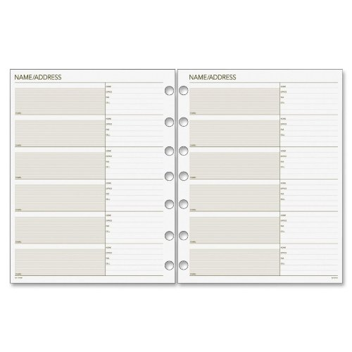Day Runner Undated Planner Telephone and Address Refill, 8.5 x 11 Inches (018-230) ()