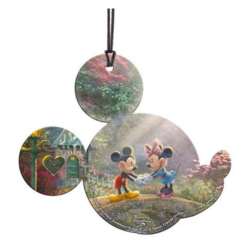Trend Setters Disney Mickey and Minnie Mouse Sweetheart Bridge Shaped Decoration Hanging Acrylic, Translucent