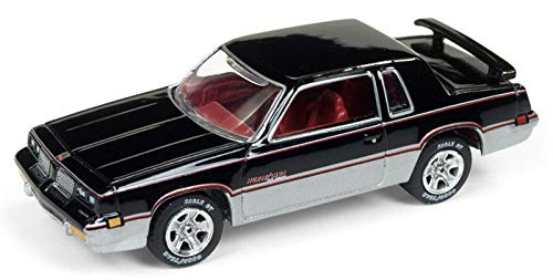 1983 Oldsmobile Cutlass Hurst Black and Silver 80's Muscle Limited Edition to 4,852 Pieces Worldwide 1/64 Diecast Model Car by Johnny Lightning JLMC014/ JLSP025 A ()