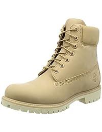 Timberland Men's 6in Premium Fashion Boots, Black Smooth, 7 Medium US Men