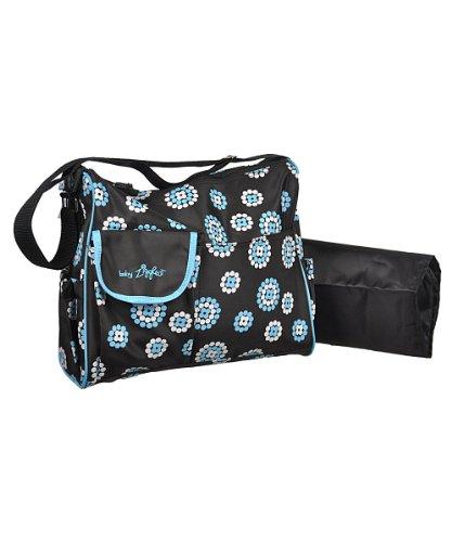 Trendige Wickeltasche inkl. Wickelauflage Farbe blau