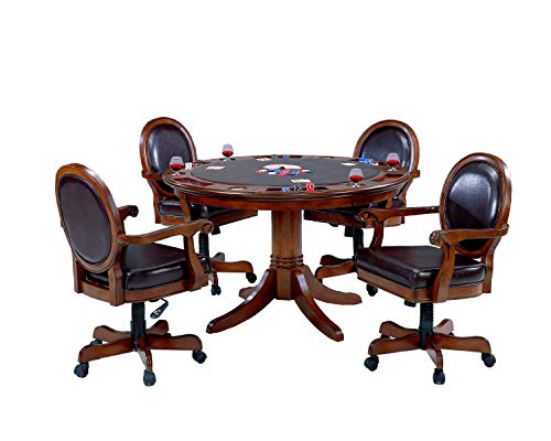 Hillsdale Furniture 6125GTBC Hillsdale Warrington 5 Piece Game Chair and Table, Cherry