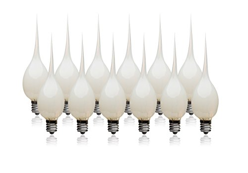 LightLady Studio - Silicone Dipped Candle Light Bulbs - Pack of 12 - Wholesale 7 Watt Light Bulb - Silicone Bulbs for Candles, Silicone Dipped Light Bulbs