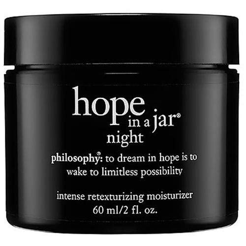 Hope in a Jar Night Intense Retexturizing Moisturizer 8 Oz (Philosophy Hope In A Jar Night Cream)