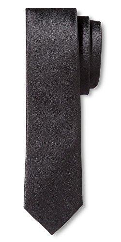 Men's Tie Black Skinny Solid - Merona