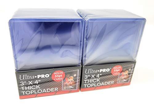 2 Ultra Pro 55pt Top Loader Packs 25ct (50 Total Toploaders) 81181 - 55 Pt for Thick Cards (Thick Top Loader)