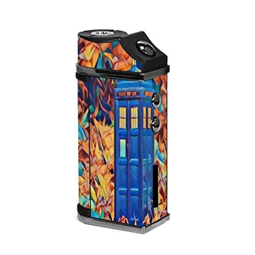 Sigelei UFO 55W TC Vape E-Cig Mod Box Vinyl DECAL STICKER Skin Wrap / TV Programme Blue Phone Box Printed Design (Tv 55w)