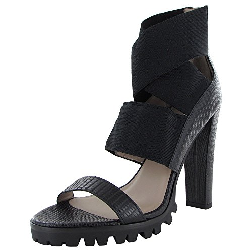 Donald J Pliner Signature Womens Ishia-82 Pump Sandal Shoe, Black, US ()