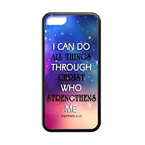 I can do all things through Christ who strengthens me - Philippians 4:13 - Bible verse Back Case Durable Laser Technology For iPhone 5C Designed by HnW Accessories