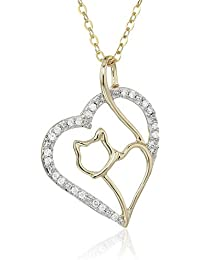 Diamond Pendant In 14K White, Yellow or Rose Gold with 18 Inch Chain