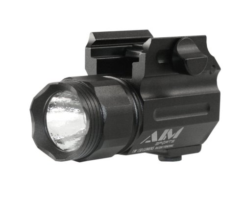 AIM Sports Flashlight 150-Lumen Compact Flashlight with Quick Release Mount Color Filtered Lens, Black by AIM Sports