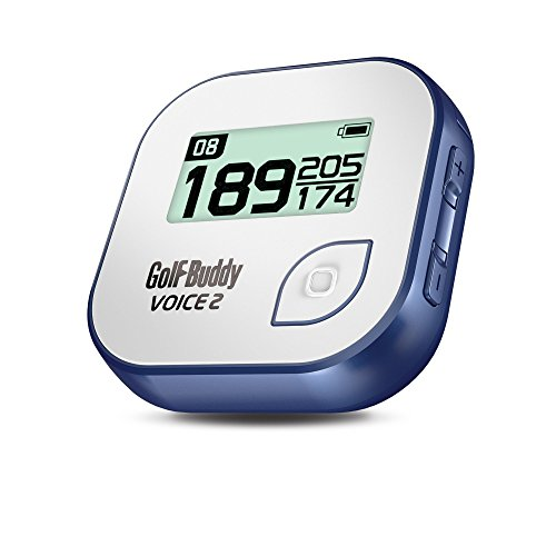 GolfBuddy Voice 2 Golf GPS/Rangefinder, White/Blue (Best Golf Rangefinder Under 100)