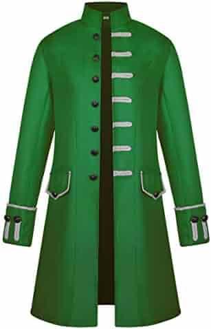 383cc16b68d2 iCos Unisex Medieval Steampunk Coat Men Stand Collar Jacket Formal Halloween  Costume Uniform