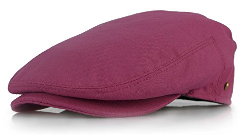 Fully Lined Vintage Hat - New Collection Men's Colorful Newsboy Ivy Gatsby Cap (Large, Burgundy)