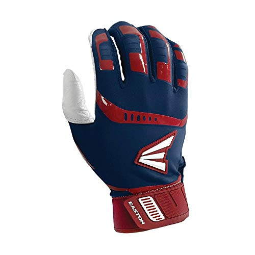 Easton Walk-Off Fast Pitch Batting Glove, Adult, Large, NAVY  /RED