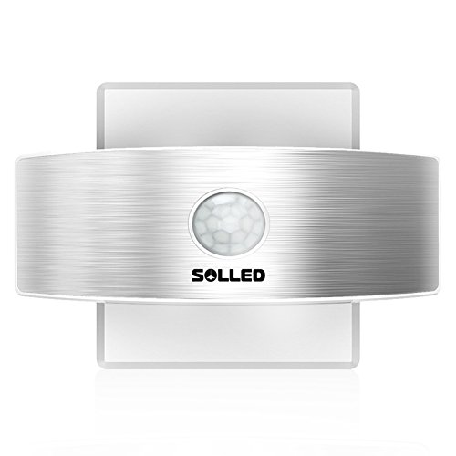 SOLLED Motion Sensor Led Wall Sconce Night Light, Luxury Aluminum Design Rechargeable Stick Anywhere, Suitable for Hallway, Pathway, Staircase, Garden, Wall