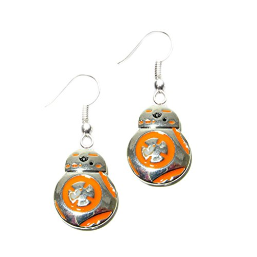[Dangle Earrings Star Wars BB8 Color In Gift Box by Superheroes] (4 Star Dragonball Costume Color)