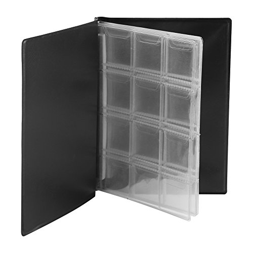 120 Pockets 10 Pages World Coin Storage Folder Album Money Collecting Holder Book New Design (Black)