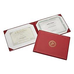 SKILCRAFT Vinyl Award Certificate Binders (NSN0561927)