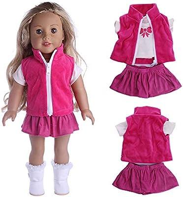 cff4e578f4831c Gaddrt Puppenkleider Kleidung Zubehör für Reizende Mäntel dreiteilige Klage  18 Zoll unsere Generation für amerikanisches Puppen-Mädchen