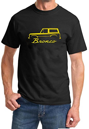 1966-77 Ford Bronco Classic Color Design Tshirt yellow