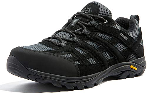 Wantdo Men's Waterproof Hiking Shoes Anti-Slip Shoes for Outdoor Mountain Trainer Hiking Camping Walking