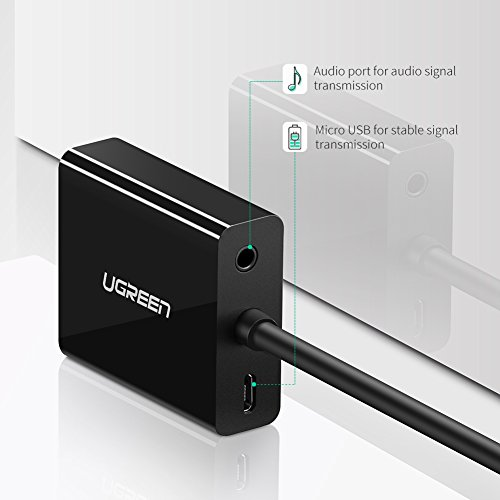 UGREEN Active HDMI to VGA Adapter with 3.5mm Audio Jack HDMI Female to VGA Male Converter for TV Stick, Raspberry Pi, Laptop, PC, Tablet, Digital Camera, etc by UGREEN (Image #5)