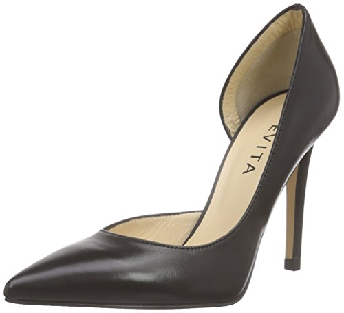 Evita Shoes Pump, Escarpins Bout Fermé Femme Noir (Schwarz 10)