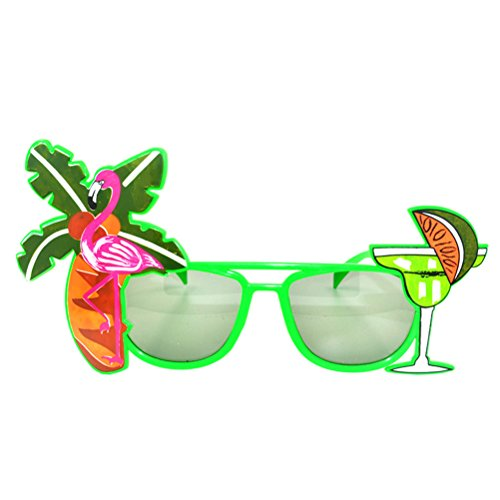 Tinksky Luau Party Supply Sunglasses Hawaii Themed Photo Booth Props(Random Color)
