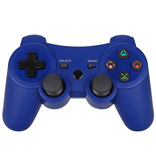 ess Dualshock3 - OUBANG PS3 Remote,Best DS3 Joystick Gift for Kids Bluetooth Gaming Sixaxis Control Gamepad Game Accessories for PlayStation3 with Micro Cable(Blue) ()
