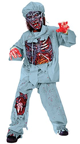 Zombie Doctor Child Halloween Costume Size 4-6 -