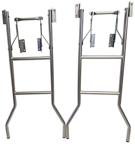Bar Height Folding Table Legs (Set of 2) 20 inch Wide by 40 Inch Height by Banquet Tables Pro