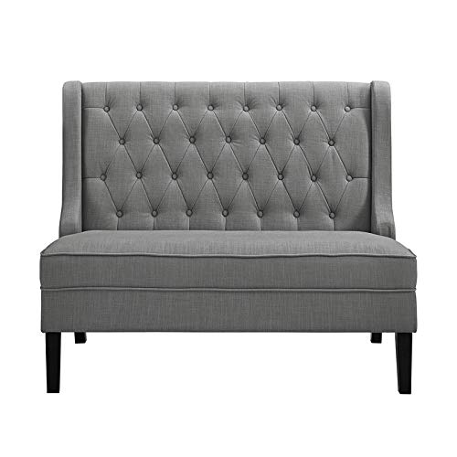 Ash Accent Chair - Pulaski DS-2187-400-10 Upholstered Tufted Settee Accent Chair, Ash Gray
