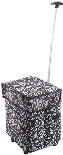 Smart Cart, Damask Rolling Multipurpose Collapsible Basket Cart Scrapbooking