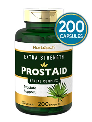 Prostaid 200 Capsules | Extra Strength Prostate Health Supplement for Men | Non-GMO, Gluten Free | Herbal Complex for Max Support | by Horbaach