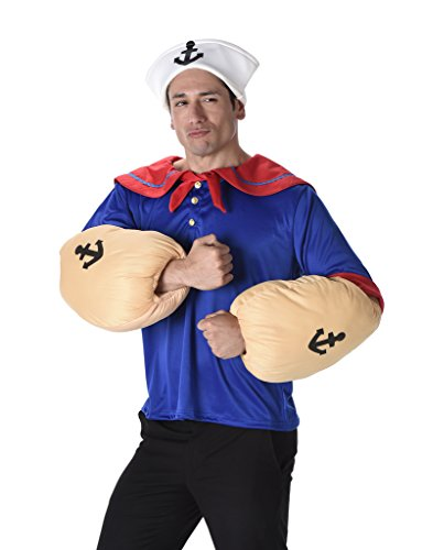 Men's Sailor Man - Halloween Costume (XL) (Scary Couples Costume)