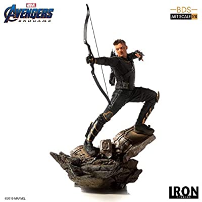 Iron Studios Collectible Comic Figure - Hawkeye - 9.8 Inches BDS Art Scale 1/10 Hand Painted Polystone Statue – Avengers: Endgame Collection: Toys & Games