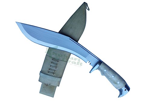 10 Blade American eagle bone handle best kukri white sheath working,military knives,handmade by Khukuri  Craft, Nepal