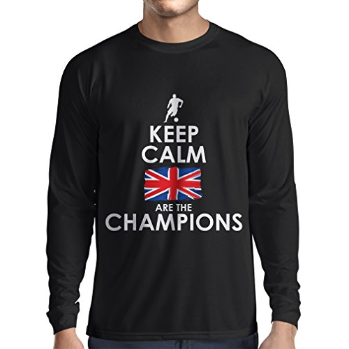 fan products of N4507L Long Sleeve t Shirt Men North Irish Are The Champions ! (Large Black Multi Color)