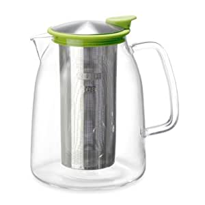FORLIFE Mist Iced Tea Jug with Basket Infuser, 68-Ounce, Lime