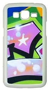 Samsung Galaxy Grand 2 Case - Graffiti Pink PC Hard Case Cover For Samsung Galaxy Grand 2 / Samsung Galaxy 7106 - White
