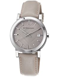 Mens BU9010 Large Check Tan Leather Strap Watch