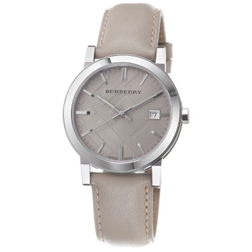 Burberry Men's BU9010 Large Check Tan Leather Strap Watch