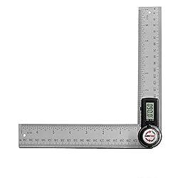 GemRed 82305 Digital Angle Finder 7-Inch Protractor (200mm Stainless Steel Angle Finder Ruler)