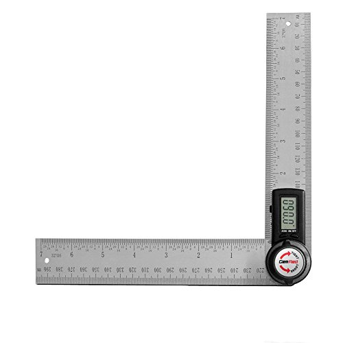 GemRed 82305 Digital Angle Finder 7-Inch Protractor (200mm Stainless Steel Angle Finder Ruler)